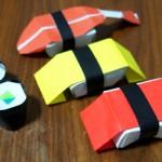 折り紙で寿司を折った